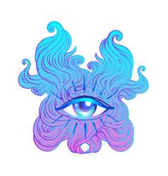 seraphim with blue eye psychedelic hallucination vector image