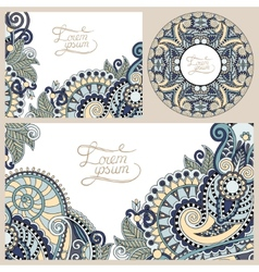 set of floral decorative background template vector image