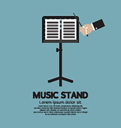 Single Music Stand With Conductor vector image