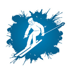 skier action ski graphic vector image
