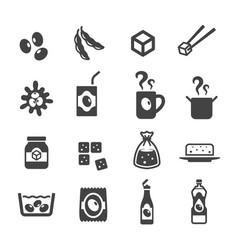 Soybean icon vector