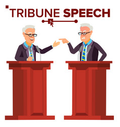 speaker man businessman politician giving vector image
