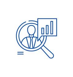 Staff performance line icon concept staff vector