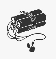 symbol of dynamite and lighter vector image