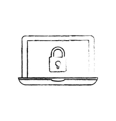 Technology security system vector