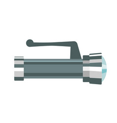 the metallic flashlight vector image