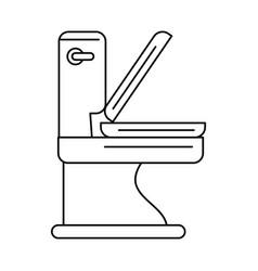 Toilet bathware item icon image vector