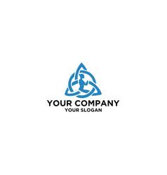 Trinity yoga logo design vector