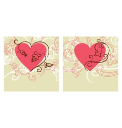 valentine design card vector image