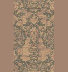 vintage baroque damask ornament pattern vector image
