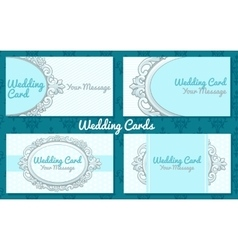 Weddiing card in vintage style vector