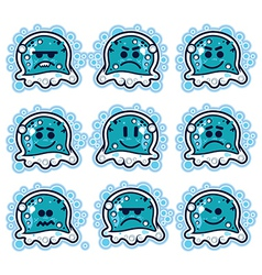 Cartoon jellyfish vector image