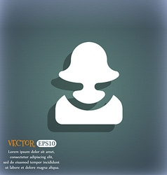 female silhouette icon symbol on the blue-green vector image