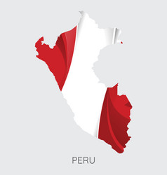 map of peru vector image