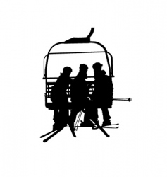 ski lift and people vector image vector image