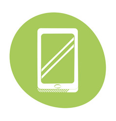 smartphone technology communication icon color vector image vector image