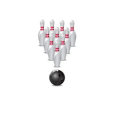 ten pin bowling icon vector image vector image