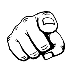 Hand with finger pointing vector image