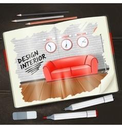 Interior Sketchbook vector image vector image