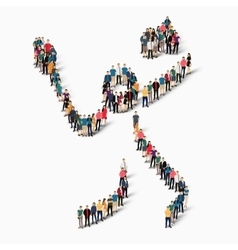 people sports badminton vector image