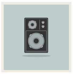Retro Background Loudspeaker vector image