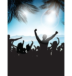 summer party background 0207 vector image vector image