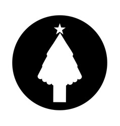 Christmas tree card isolated icon vector