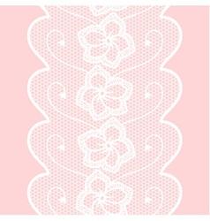 Decorative lacy border vector image