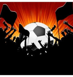football fans crowd vector image vector image