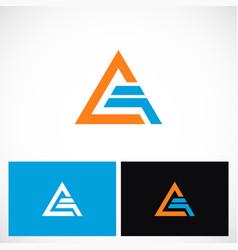 triangle shape pyramid technology logo vector image vector image