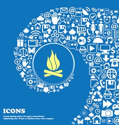 A fire sign symbol Nice set of beautiful icons vector image