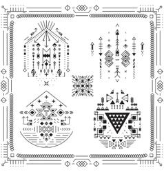 Boho tribal ethnic elements vector image vector image