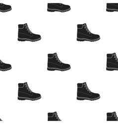 Hiking boots icon in black style isolated on vector image vector image