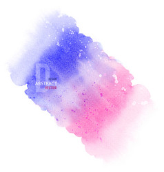 abstract background design blue and pink splatter vector image