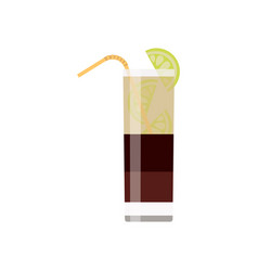 alcoholic cocktails isolated on black background vector image
