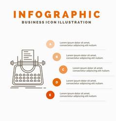 Article blog story typewriter writer infographics vector