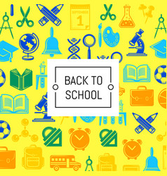 back to school stationery background vector image