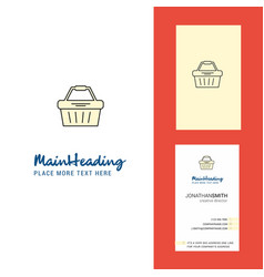 basket creative logo and business card vertical vector image
