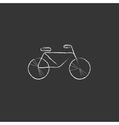 Bicycle Drawn in chalk icon vector image