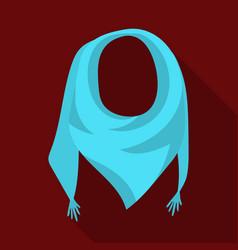 blue summer bandana from the sunbandana with vector image