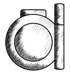 blush and eyelash make up drawing icon vector image