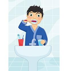 Boy Brushing Teeth vector