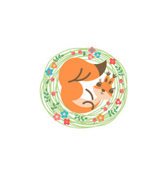 cartoon cute squirrel little funny print vector image
