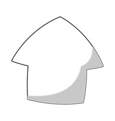 cartoon up arrow icon vector image