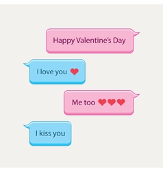 chat bubbles valentines day vector image