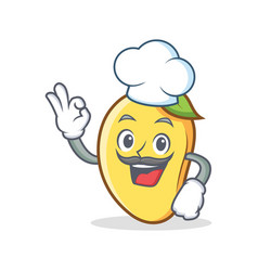 Chef mango character cartoon mascot vector