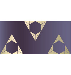 Chic geometric banner pastel gold vector