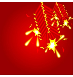 Chinese cracker background vector