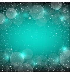 Christmas azure snow bokeh backdrop vector image