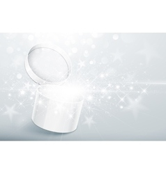 Christmas silver box vector image